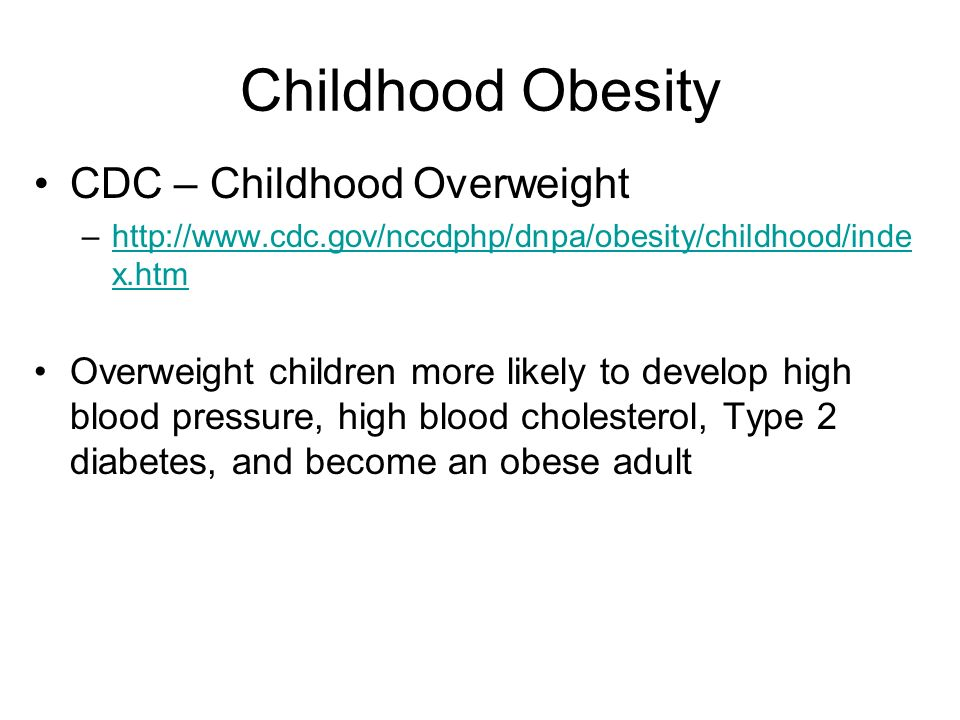 Childhood Obesity CDC – Childhood Overweight