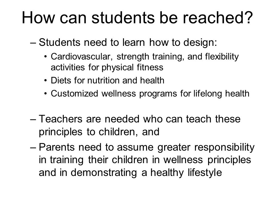 How can students be reached