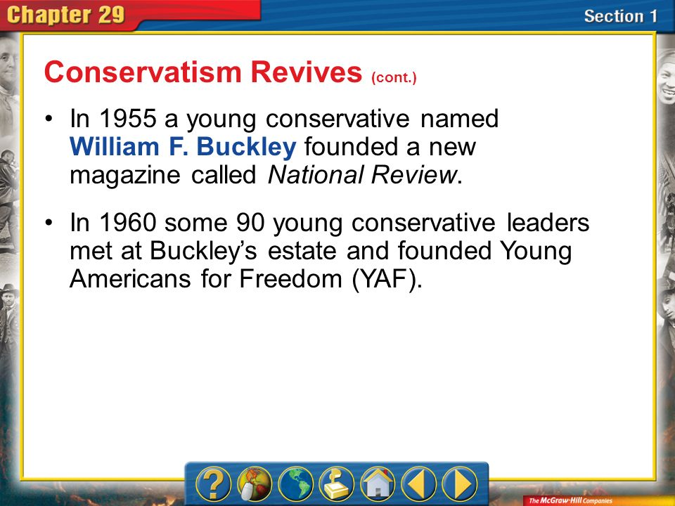 Conservatism Revives (cont.)