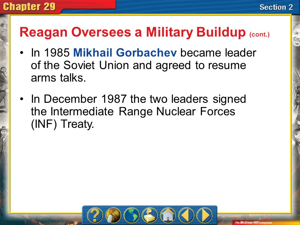 Reagan Oversees a Military Buildup (cont.)