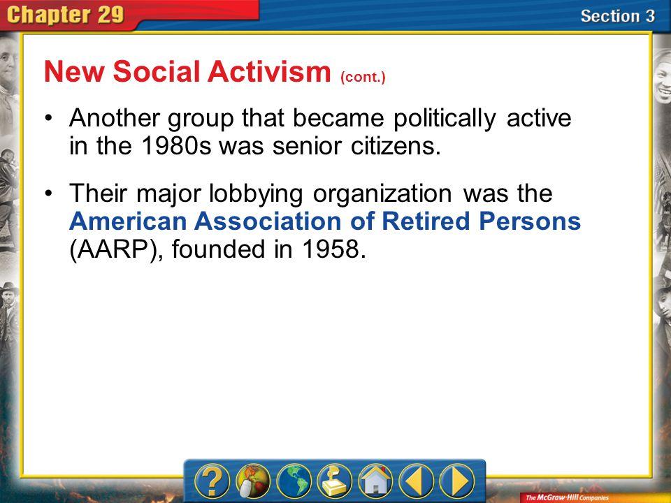 New Social Activism (cont.)