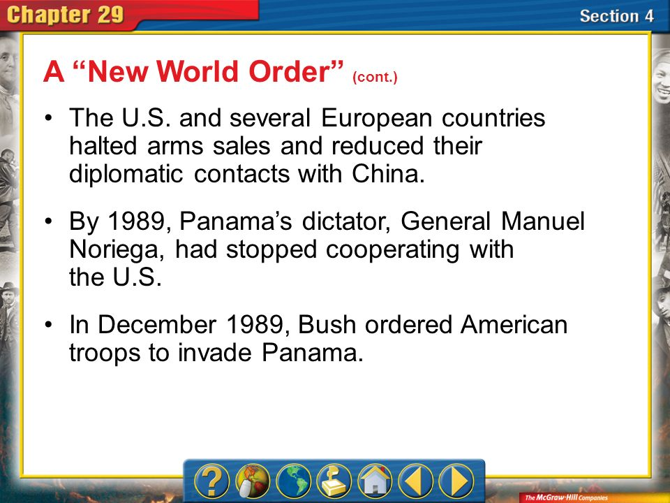 A New World Order (cont.)