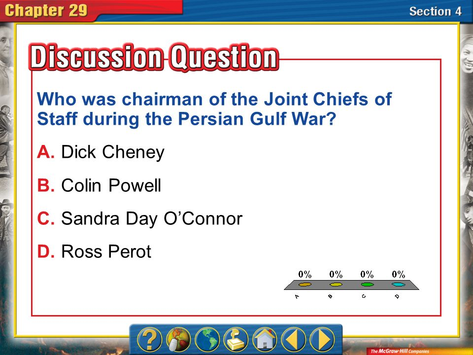 Who was chairman of the Joint Chiefs of Staff during the Persian Gulf War