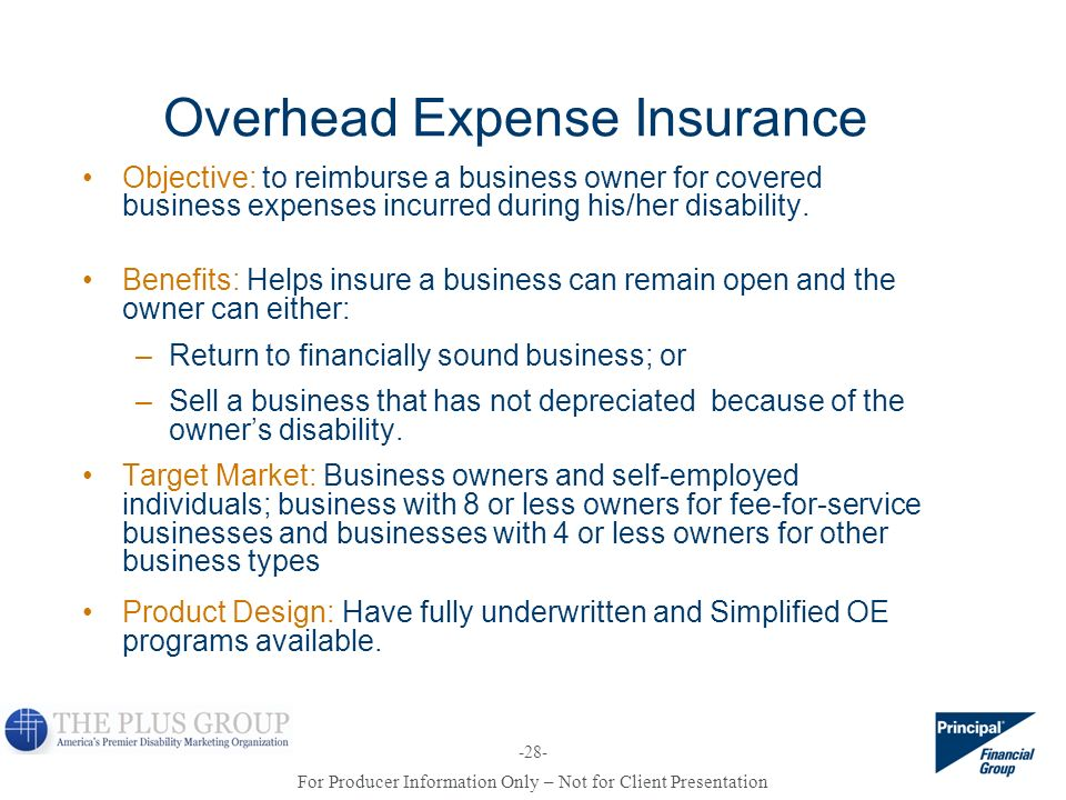Overhead Expense Insurance