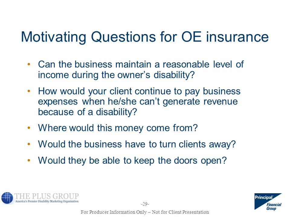 Motivating Questions for OE insurance