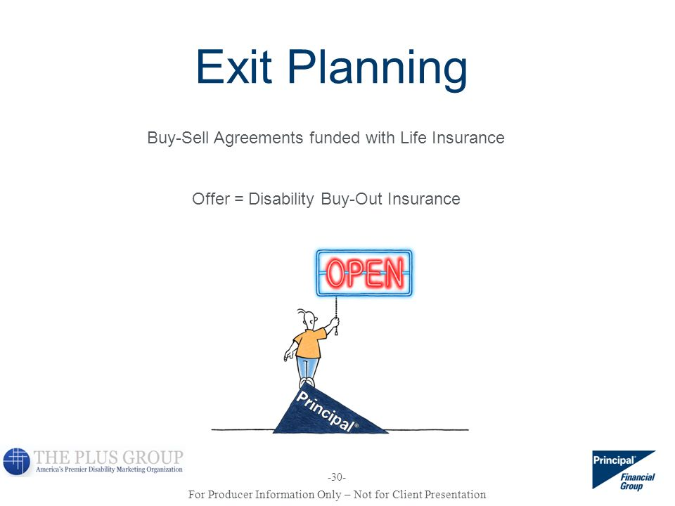 Exit Planning Buy-Sell Agreements funded with Life Insurance