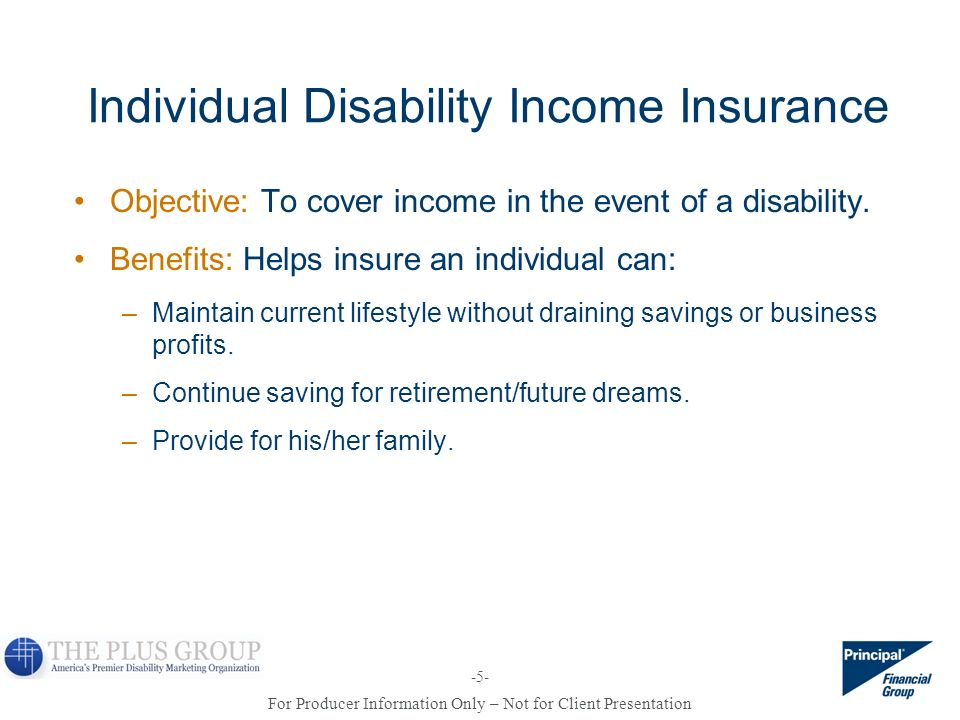 Individual Disability Income Insurance