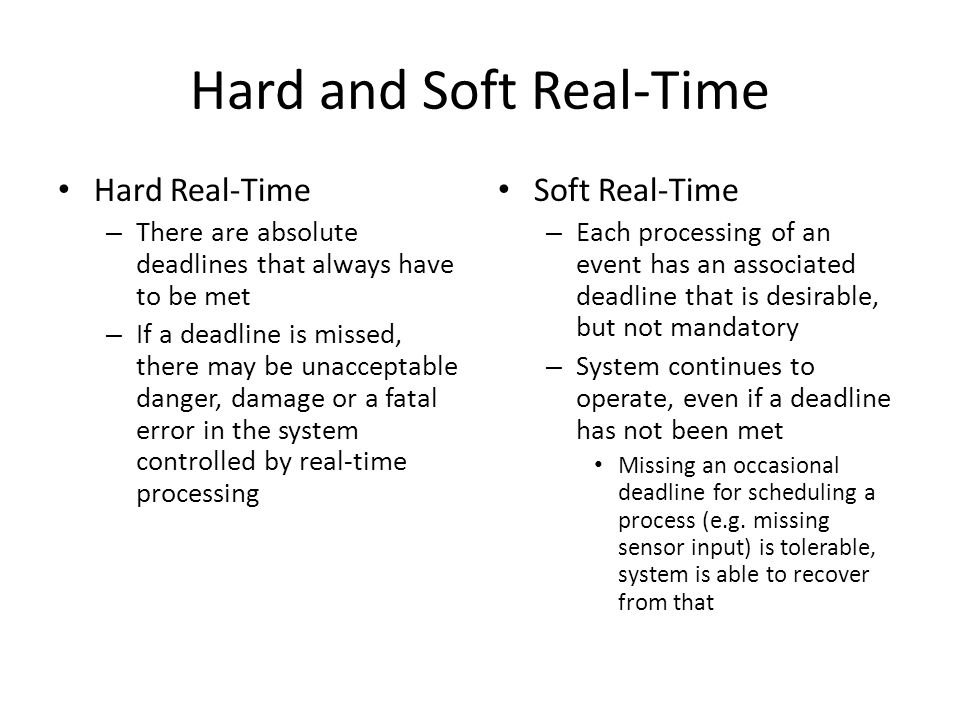 Hard and Soft Real-Time
