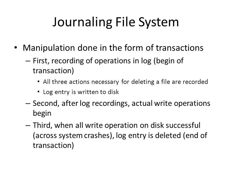 Journaling File System