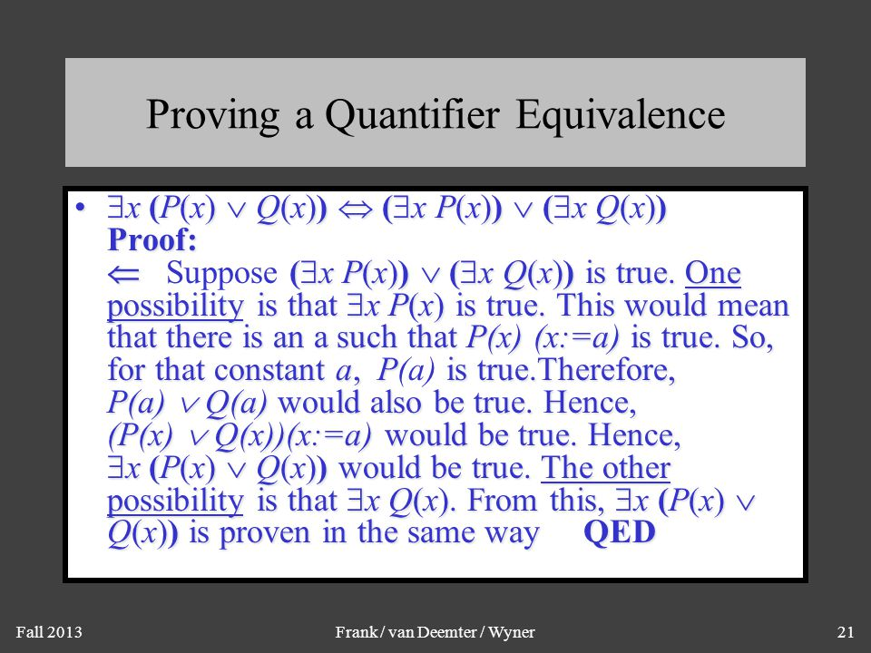 Another Equivalence Law