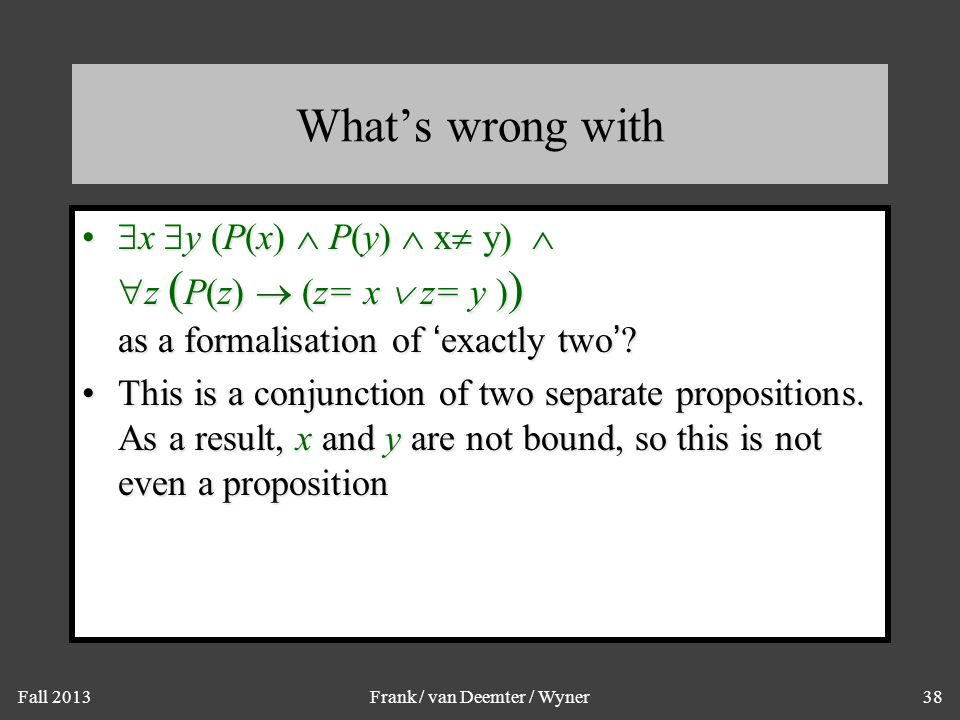 What Cannot be Expressed in Predicate Logic: Infinitely Many