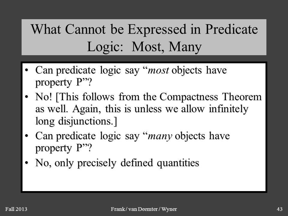 Formulas of Infinite Length