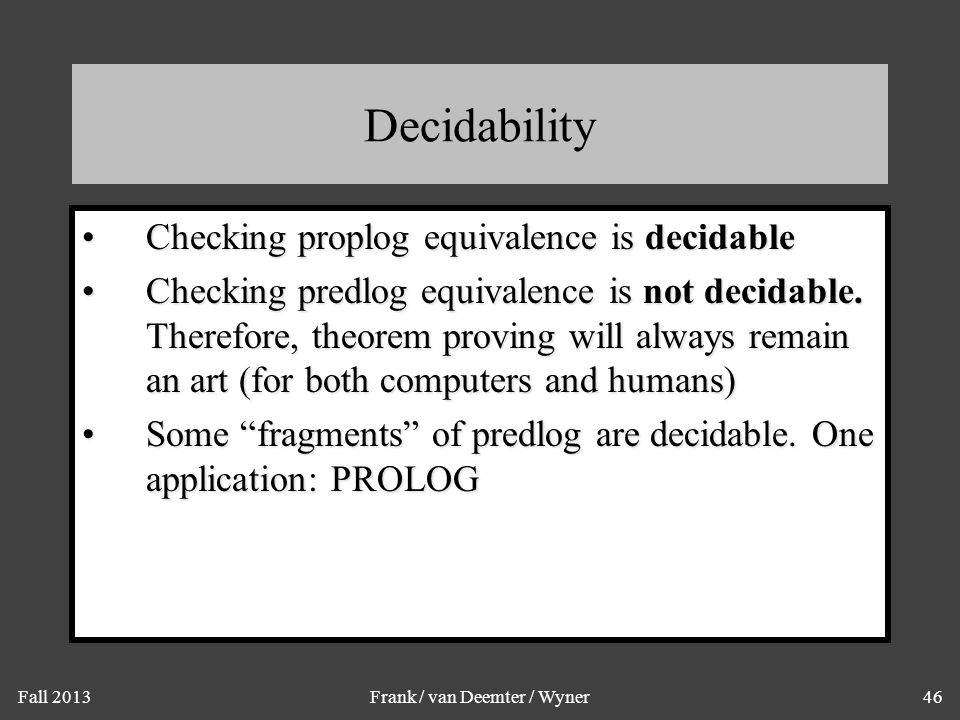 Bonus Topic: Logic Programming