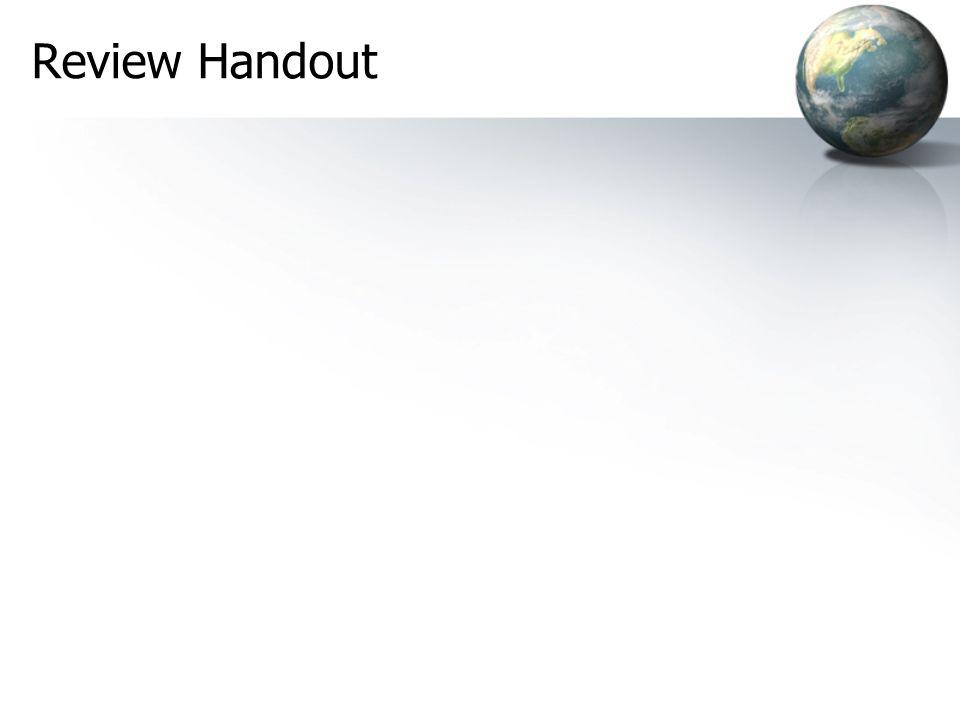 Review Handout