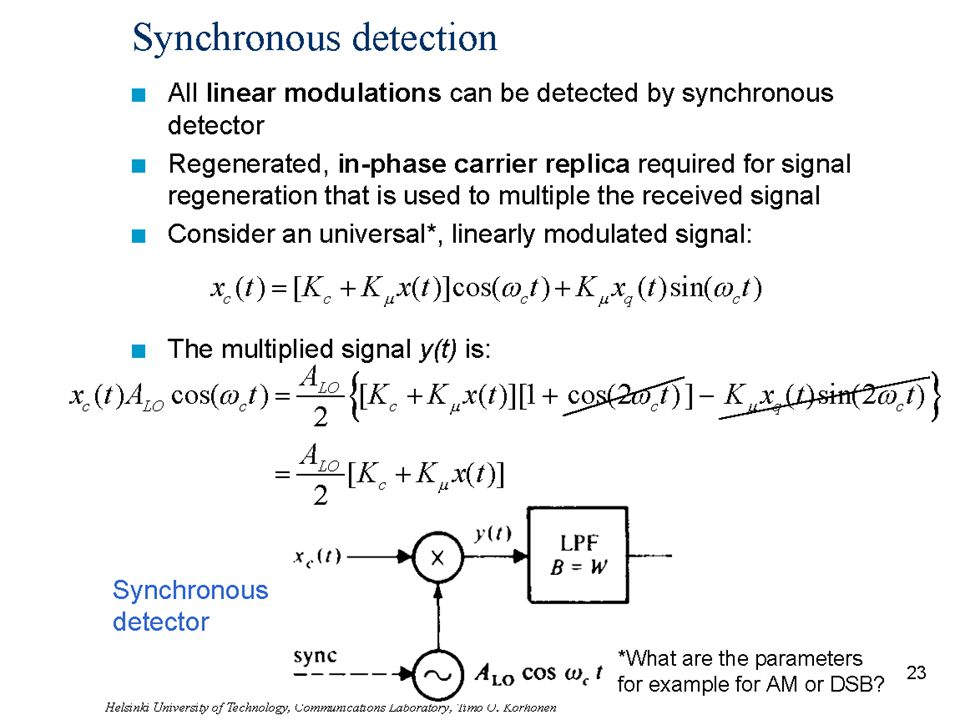 Synchronous detection