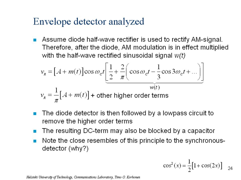Envelope detector analyzed