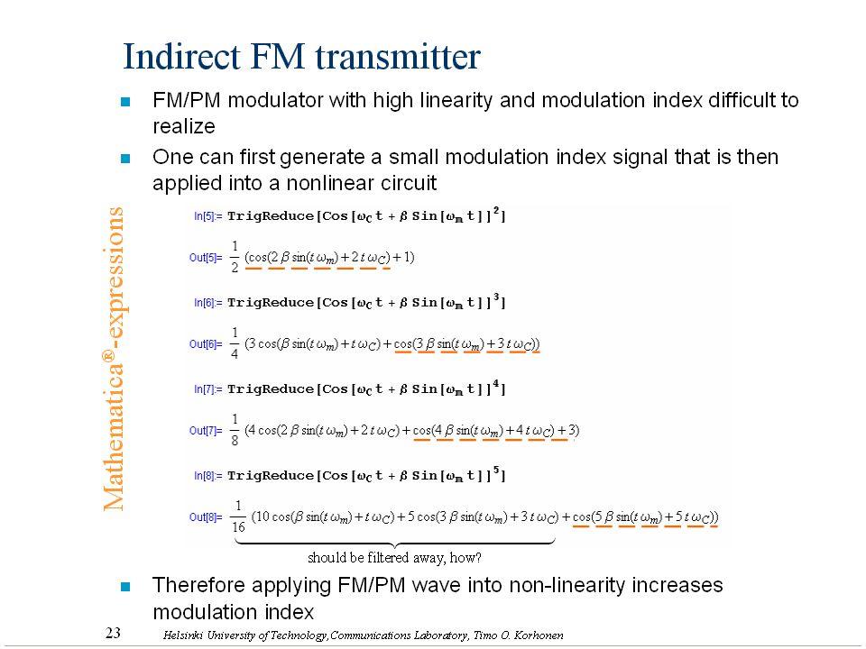 Indirect FM transmitter