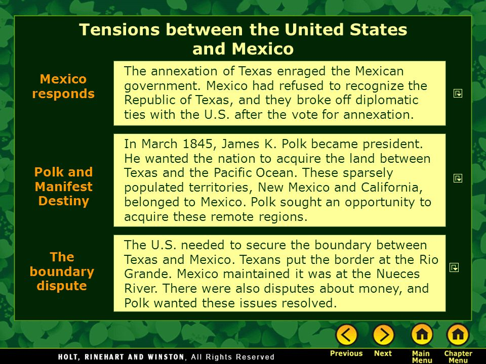Tensions between the United States and Mexico
