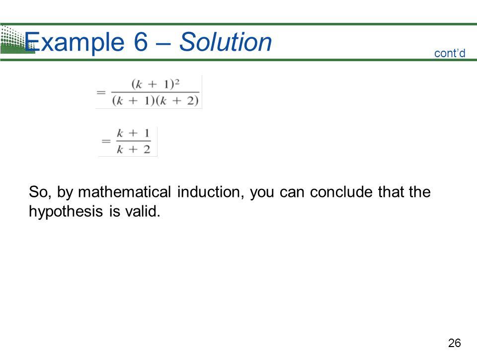 Example 6 – Solutioncont'd.