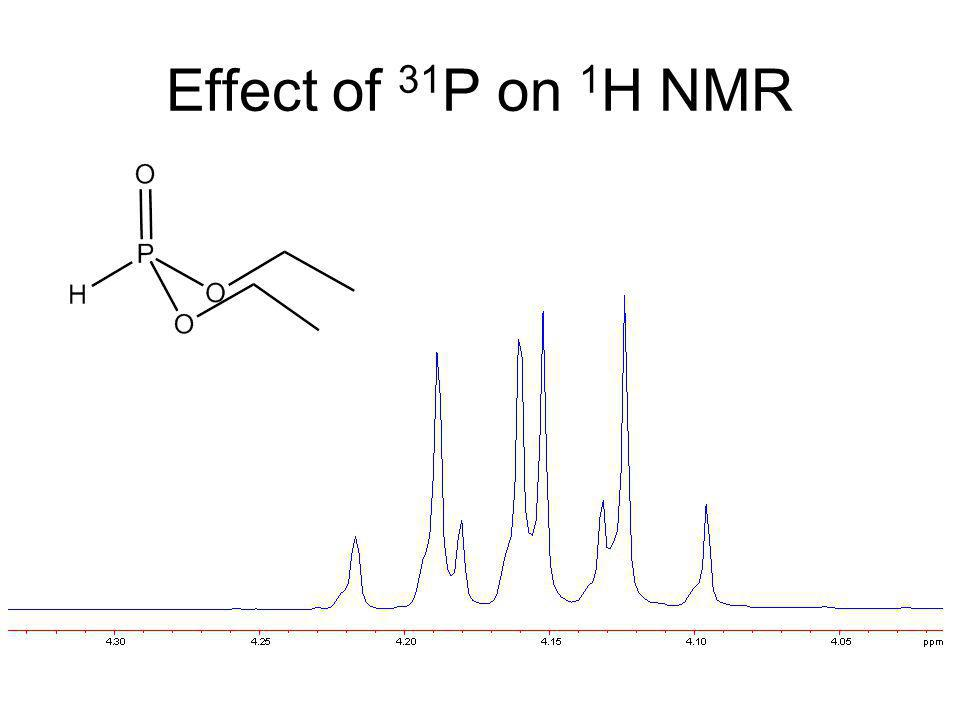 Effect of 31P on 1H NMR