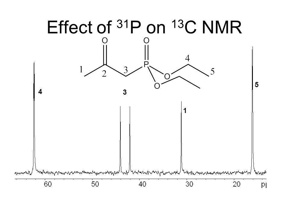 Effect of 31P on 13C NMR 5 4 3 1