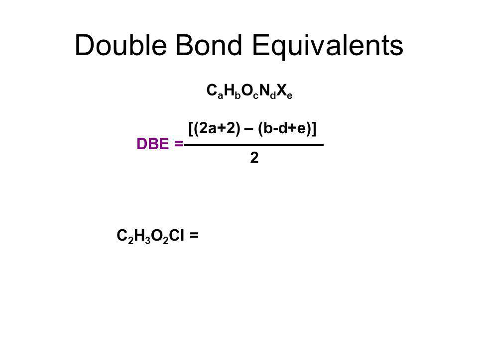 Double Bond Equivalents