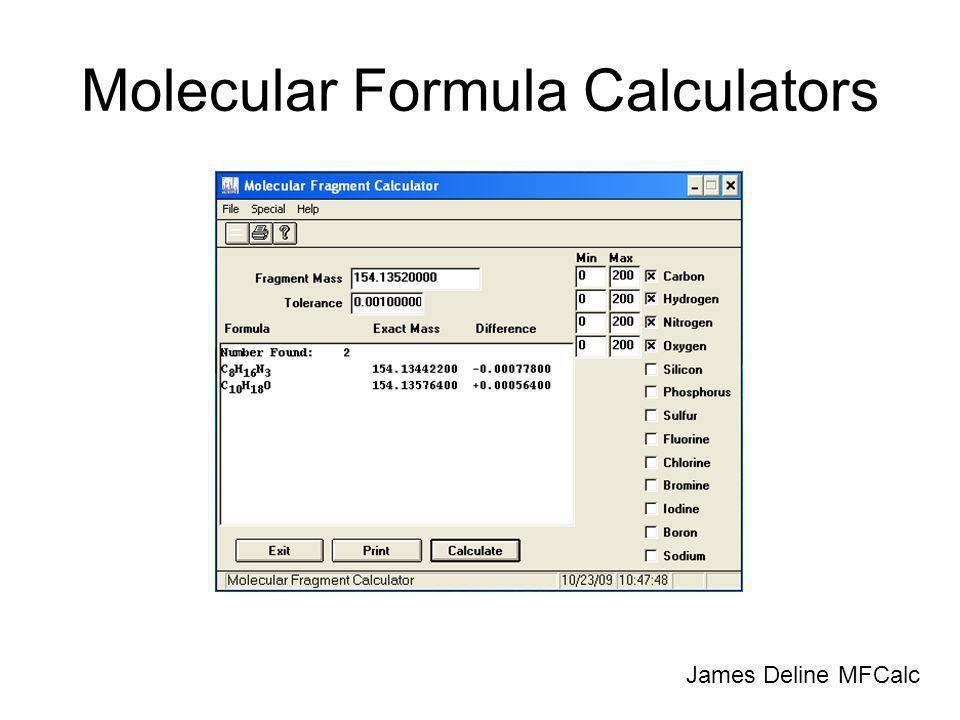 Molecular Formula Calculators