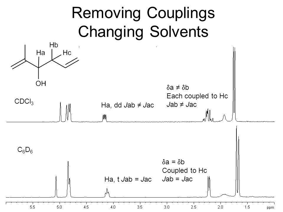 Removing Couplings Changing Solvents