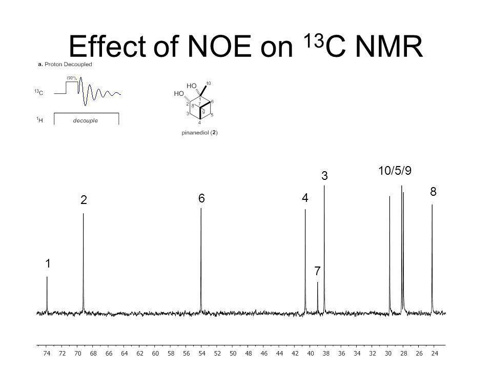 Effect of NOE on 13C NMR 10/5/9 3 8 2 6 4 1 7