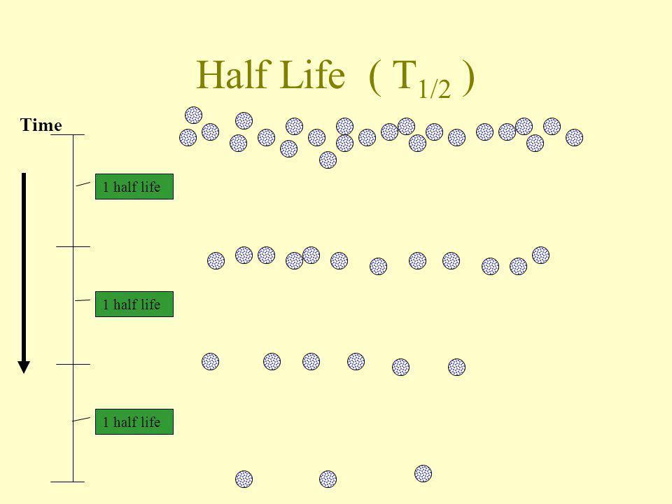 Half Life ( T1/2 ) Time 1 half life 1 half life 1 half life