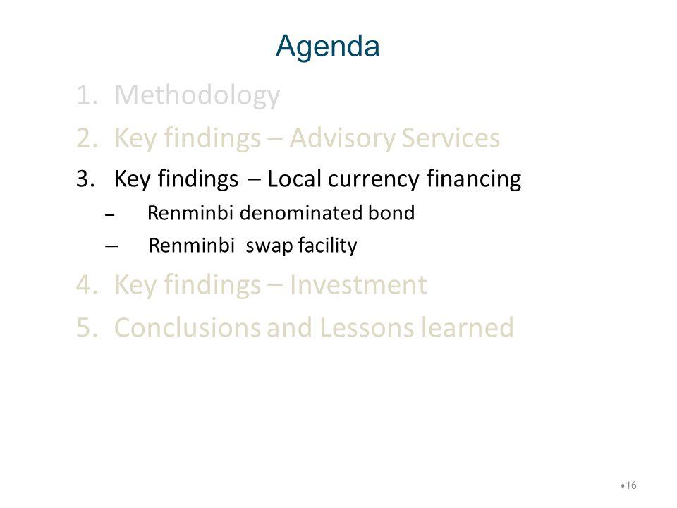 Key findings – Advisory Services