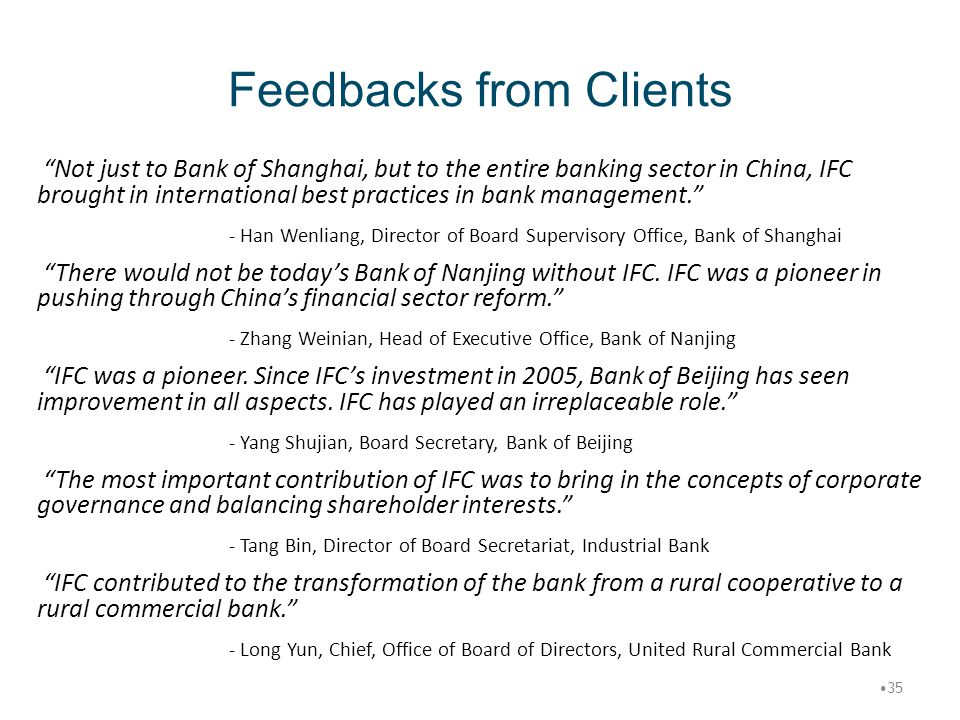 Feedbacks from Clients