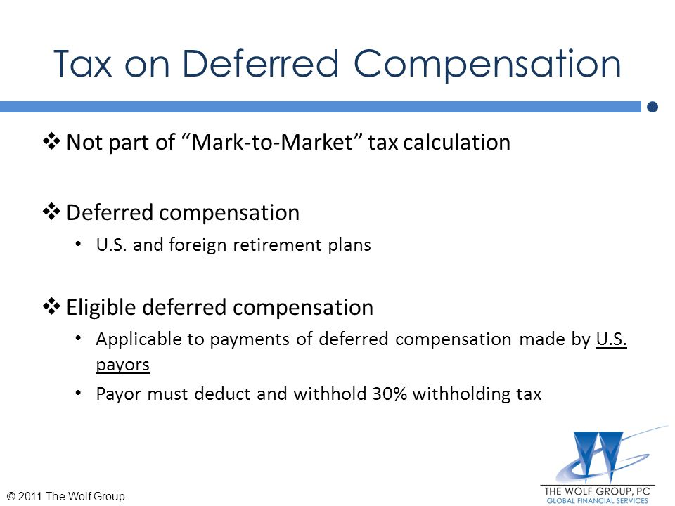 Tax on Deferred Compensation