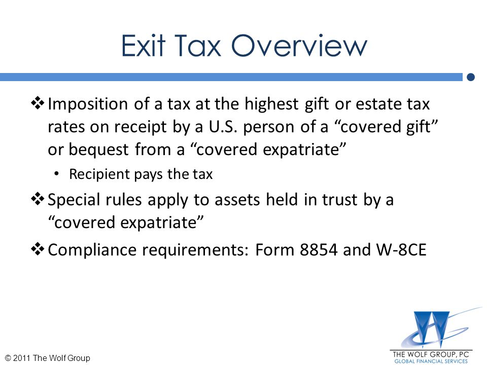 Exit Tax Overview