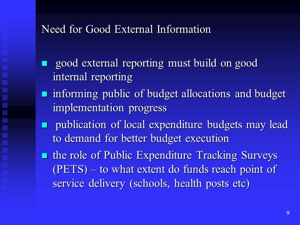 Need for Good External Information