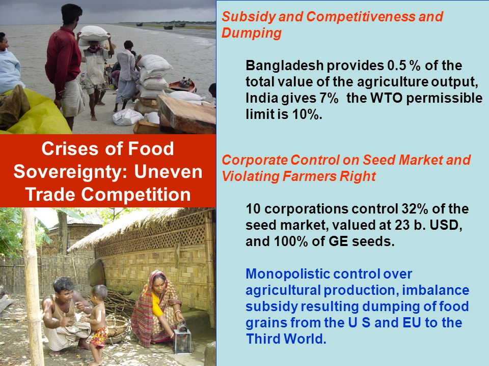 Crises of Food Sovereignty: Uneven Trade Competition