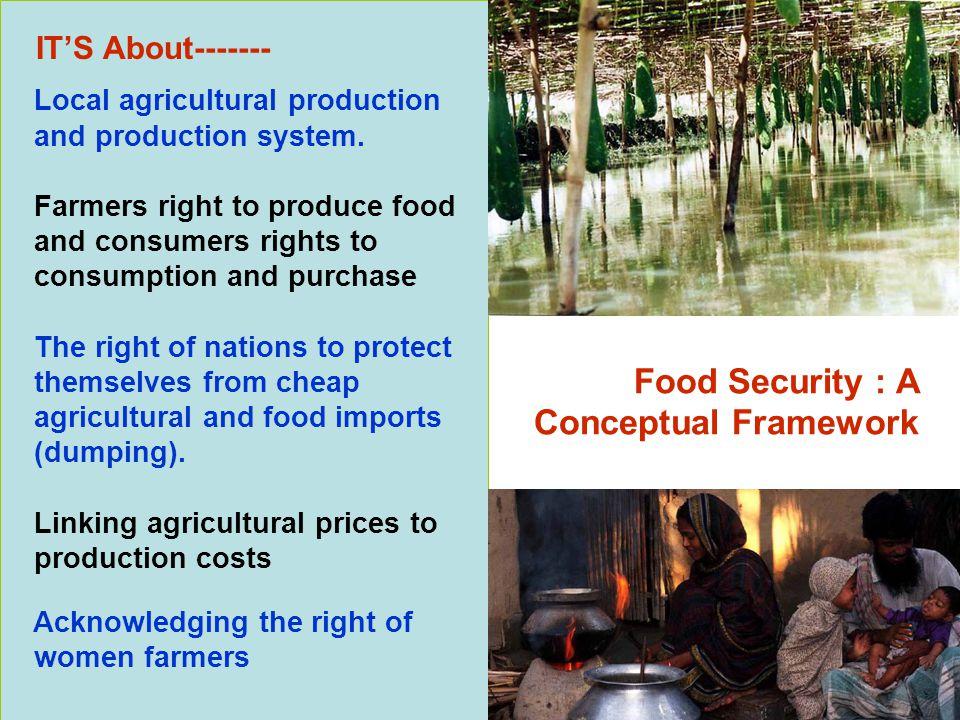 Food Security : A Conceptual Framework