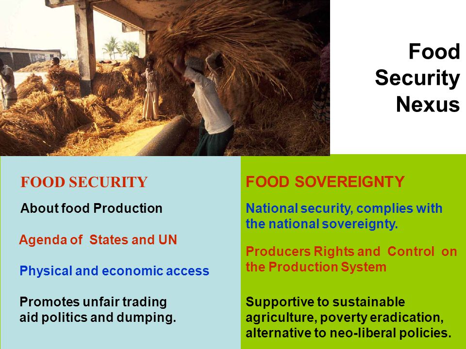 Food Security Nexus FOOD SECURITY FOOD SOVEREIGNTY