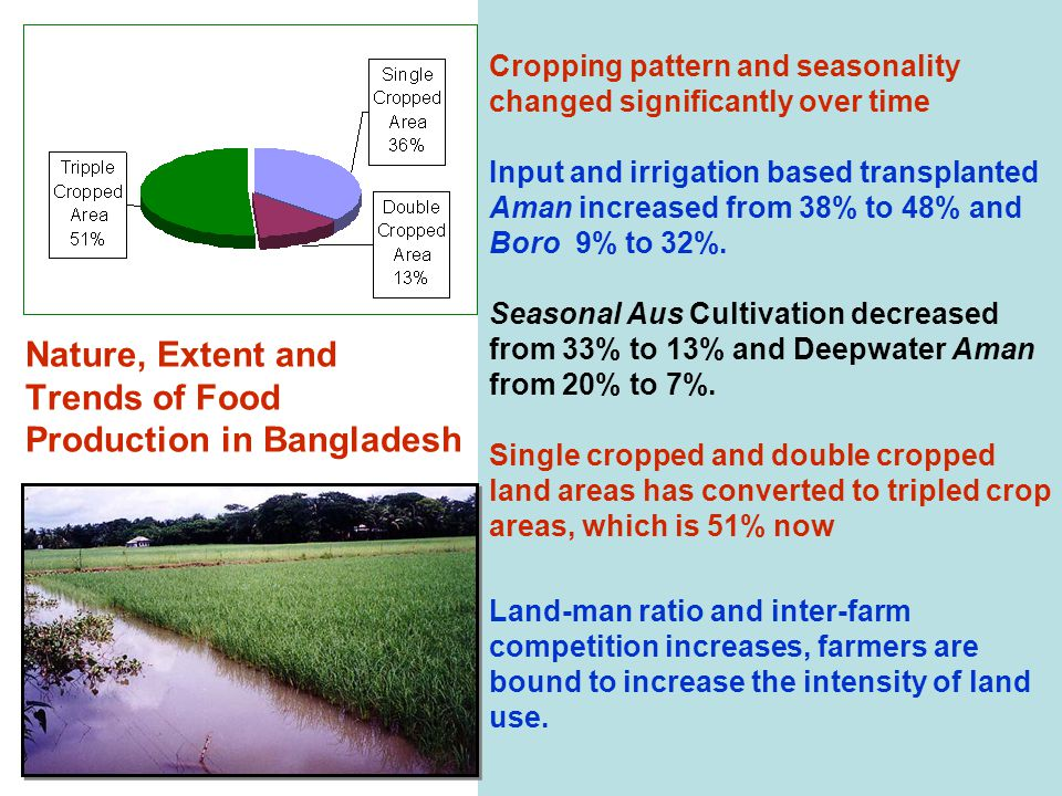 Nature, Extent and Trends of Food Production in Bangladesh