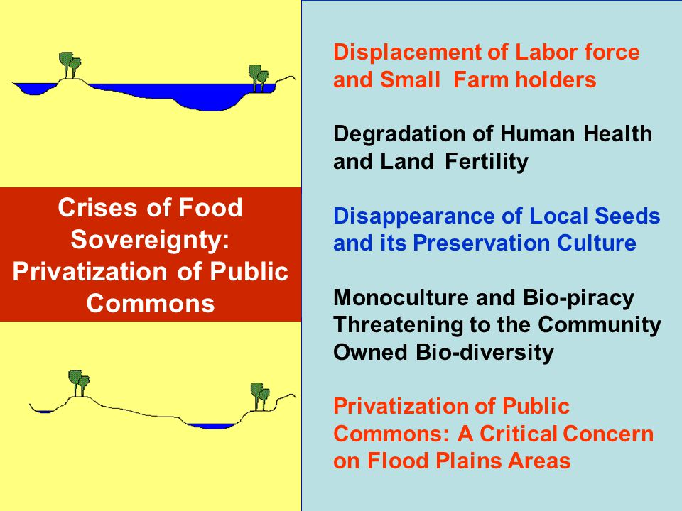 Crises of Food Sovereignty: Privatization of Public Commons
