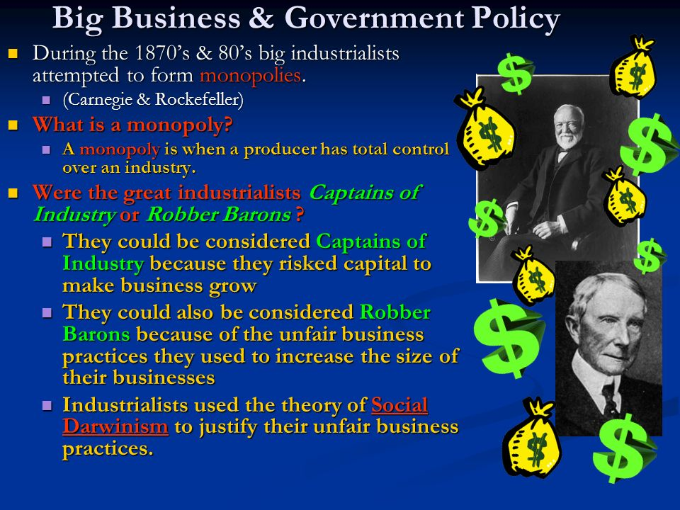 Big Business & Government Policy
