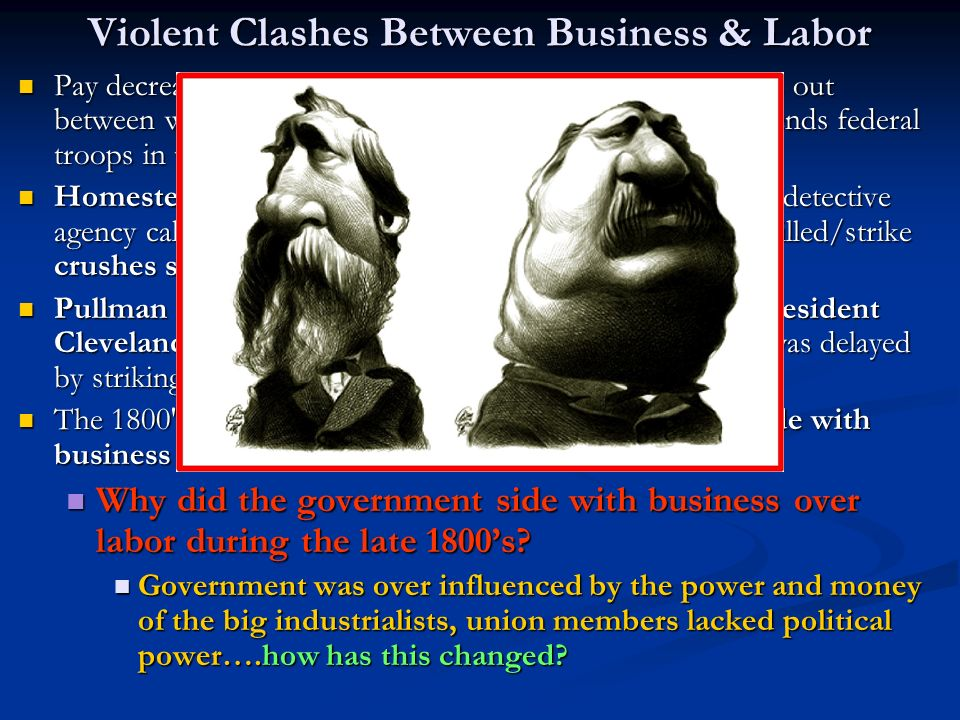 Violent Clashes Between Business & Labor