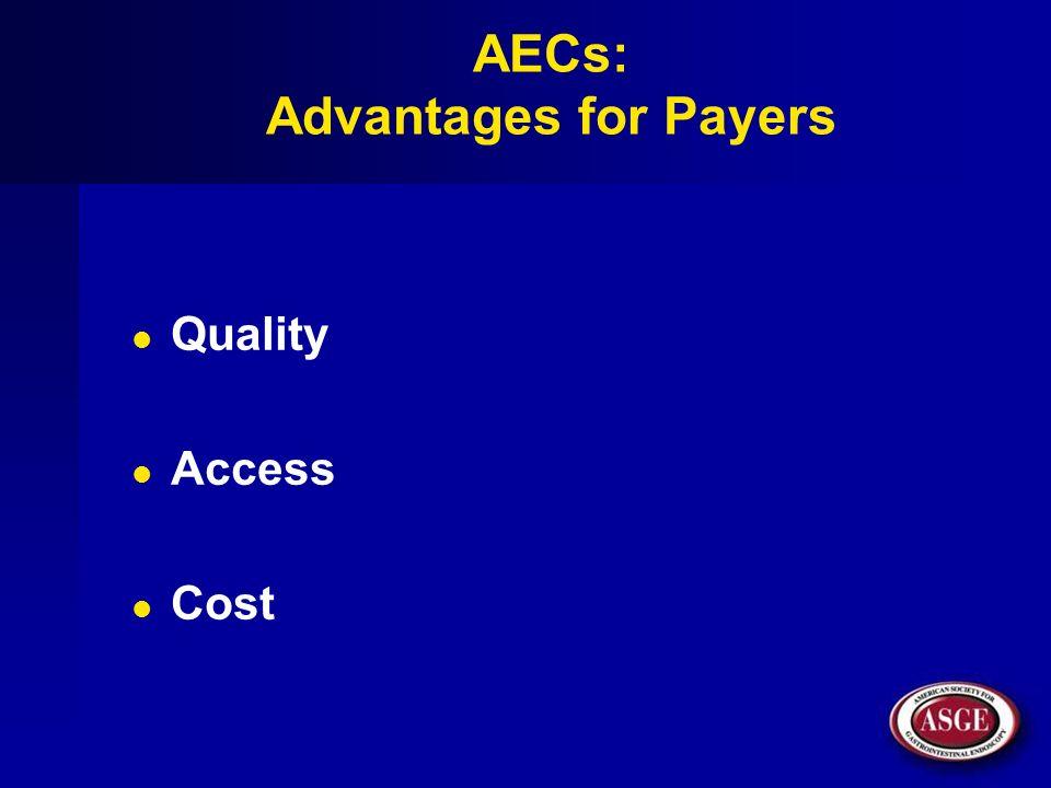 AECs: Advantages for Payers