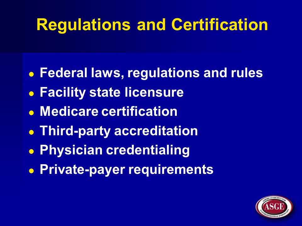 Regulations and Certification