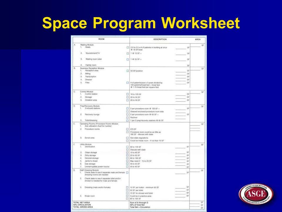 Space Program Worksheet