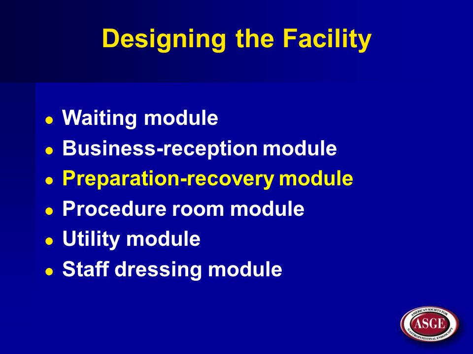 Designing the Facility