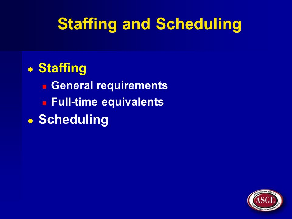 Staffing and Scheduling