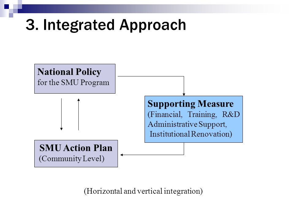3. Integrated Approach National Policy Supporting Measure