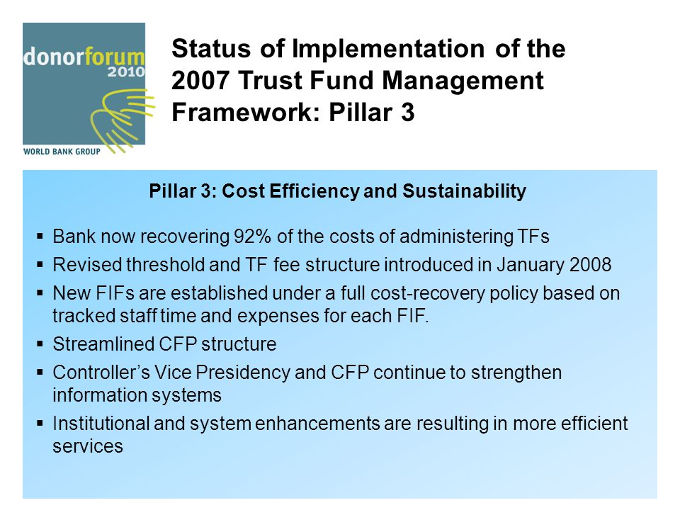 Pillar 3: Cost Efficiency and Sustainability
