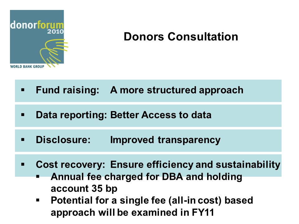 Donors Consultation Fund raising: A more structured approach
